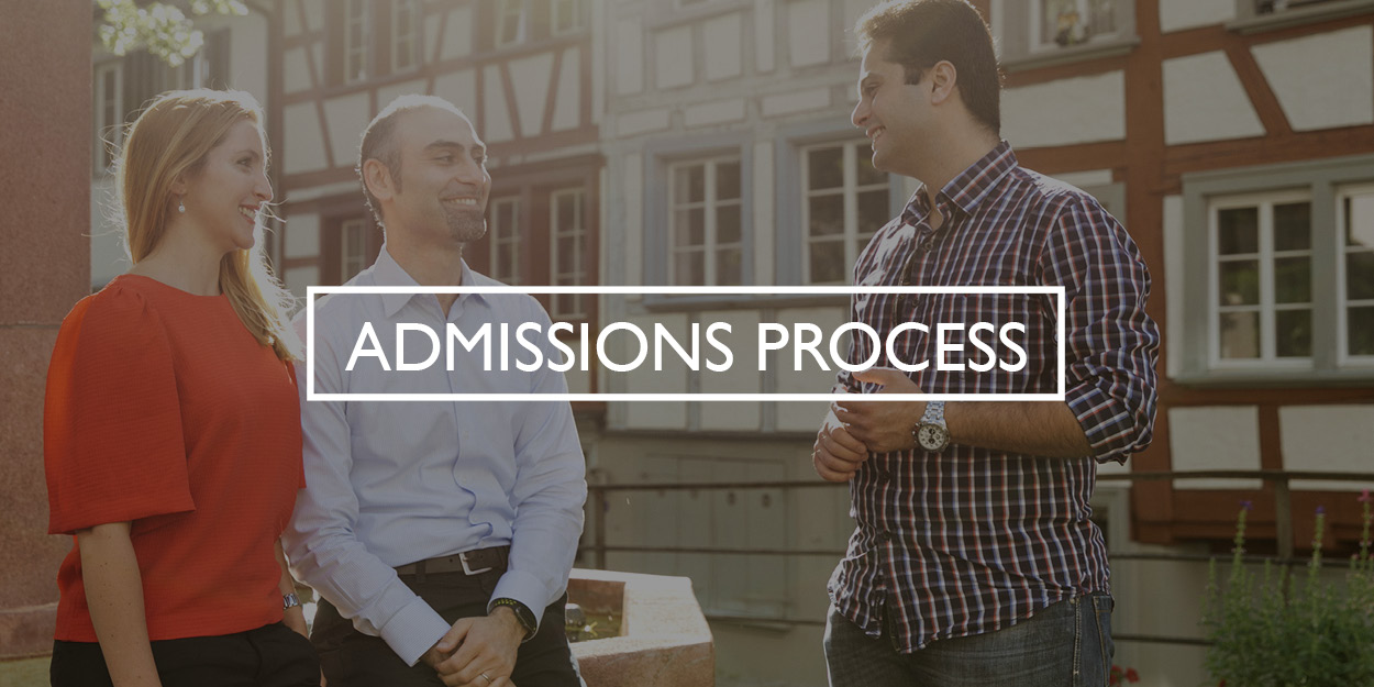 Admissions Process Full-time Button