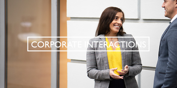 Corporate Interactions Button
