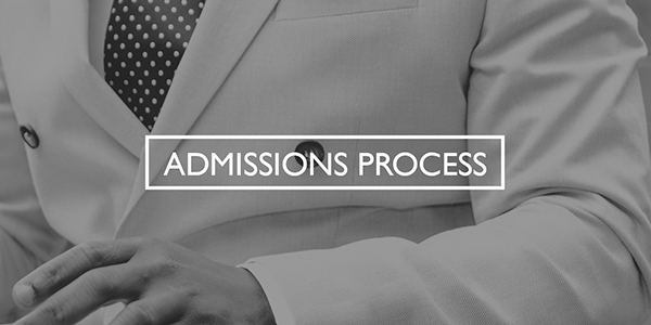 Admissions Process Part-time Button