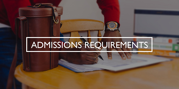 Admissions Requirements Part-time Button